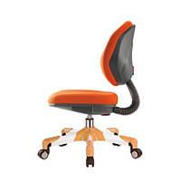 Кресло метал белый / обивка оранжевая однотонная MEALUX Y-120 KY