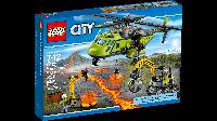 Лего LEGO City Грузовой вертолёт исследователей вулканов 60123
