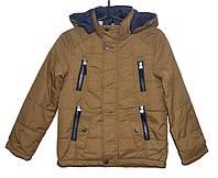 Демисезонная куртка для мальчика 8-12 лет JieKei коричневая