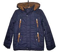 Демисезонная куртка для мальчика 8-12 лет JieKei темно-синяя