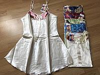 Однотонная шёлковая ночнушка с цветной вставкой, 46-52 ночная рубашка