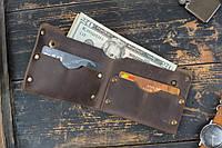 Мужской кожаный кошелек Гранж brown