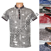 Мужская котоновая футболка-поло M22 (в уп. до 5 разных расцветок) оптом со склада в Одессе