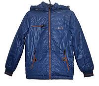 Демисезонная куртка для мальчика 8-12 лет JieKei Sport синяя