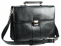 Мужской кожаный портфель Visconti 01775 черный