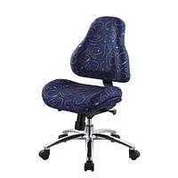 Кресло обивка синяя с рисунком MEALUX Y-128 B
