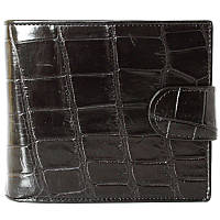Мужской кошелек из кожи крокодила (ALM 96 B Black)