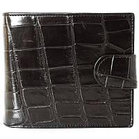Мужской кошелек из кожи крокодила (ALM 96 B Black), фото 1