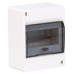 Щит накладной с дымчатой дверцей 6 модулей Hager COSMOS