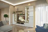 Стенка в гостинную Альба, готовая мебель в гостинную