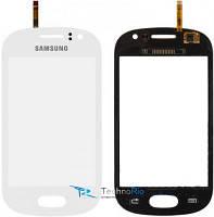Тачскрин Samsung S6810 Galaxy Fame, белый (оригинал)