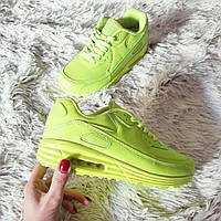 Женские кроссовки неон салат Air Max  код 196