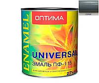 Эмаль ПФ-115 ОПТИМА серая, 2,7кг