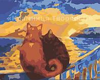 """Картина по номерам без упаковки """"Закат солнца"""", 40х50см (КНО2438)"""
