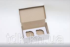 Упаковка для 2 кексов