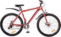 "Велосипед 29"" Discovery TREK AM 14G  DD  рама-21"" St красно-черно-белый (м)  Pl 2018"