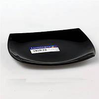 Тарелка десертная 19см Luminarc Quadrato Black H3670. Тарелка Люминарк