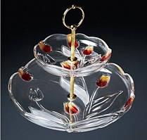 Етажерка Walther-Glas w6156 Nadinе Satin-Red-Gold 25,5см
