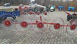 Грабли-ворошилки на квадратной раме к трактору - 5 колес, фото 2