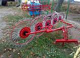 Грабли-ворошилки на квадратной раме к трактору - 5 колес, фото 3