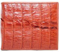 Мужской кошелёк из кожи крокодила (ALM 7T Tan), фото 1