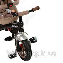Трехколесный велосипед Turbotrike БЕЖЕВЫЙ (M 3195-3A) с надувными колесами, фото 2