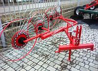 Грабли-ворошилки на квадратной раме к трактору - 4 колеса, фото 1