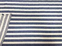 Футер трехнитка Петля Морячка (джинс, молоко) (арт. 051261) отрез 0,6 м