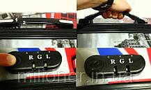 Чемодан сумка RGL (небольшой) бабочка (синий), фото 3