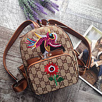 Женский рюкзак с птицей Gucci детский портфель гуччи