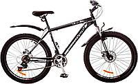 "Велосипед 26"" Discovery TREK AM 14G  DD  рама-18"" St черно-серо-белый (м)  с крылом Pl 2017"