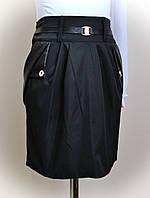 Детская школьная юбка карандаш для девочек, черная