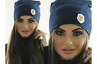 Женская шапка с якорем