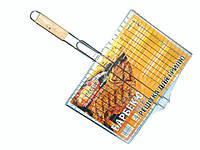 Решетка Гриль/Решетка для барбекю, плоская средняя 40х30х5,5 см