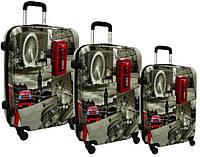 Чемодан сумка RGL набор 3 штуки City London