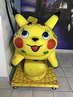 Аттракцион детская качалка Покемон Пикачу В НАЛИЧИИ!