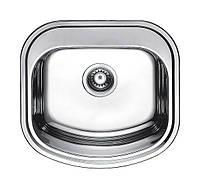 Мойка из нержавейки кухонная Квадратная с закруглёнными краями Fabiano 49х47