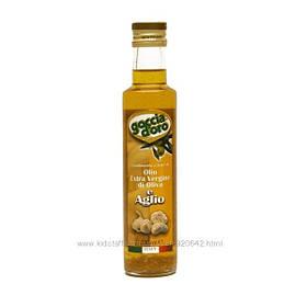 Оливковое масло Extra Vergine с чесноком Goccia doro 0. 25л Италия