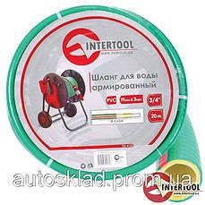 Шланг для воды 4-х слойный 3/4 Intertool GE-4127, 100м, армированный PVC