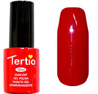 Гель-лак Tertio 005 Классический красный, без блесток и перламутра, 10 мл.