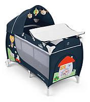Манеж-кровать Cam Daily Plus Синий с домиком (L113-C222)