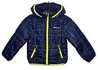 Демисезонная куртка для мальчика 2-5 лет Jingpin Sport темно-синяя