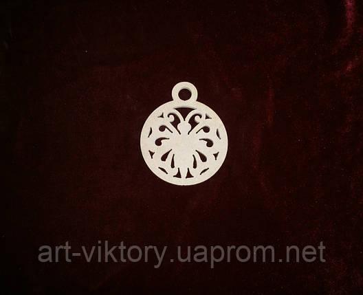 Бабочка в круге  (9 х 10 см), декор, фото 2