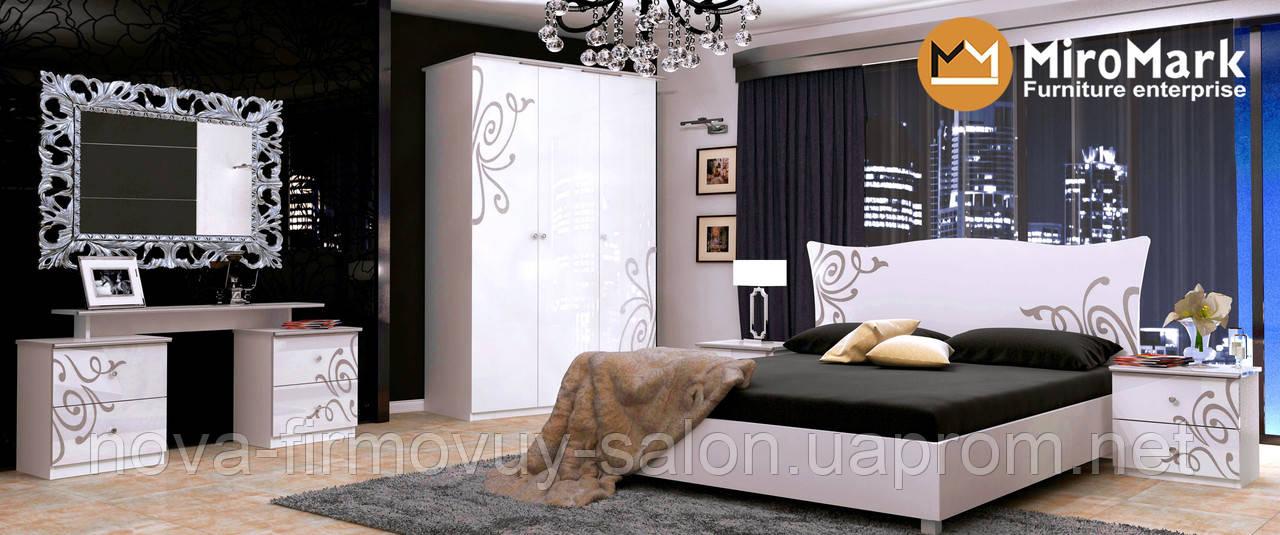 Спальня Богема глянець білий
