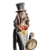 """Декоративная статуэтка с часами """"Собака Сэр Джеймс"""" NS-153"""