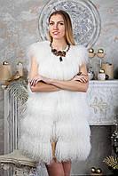 """Жилет из испанской ламы белого цвета """"Билана"""", фото 1"""