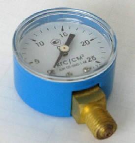 Манометр МП50 кислород 25 МПа, фото 2