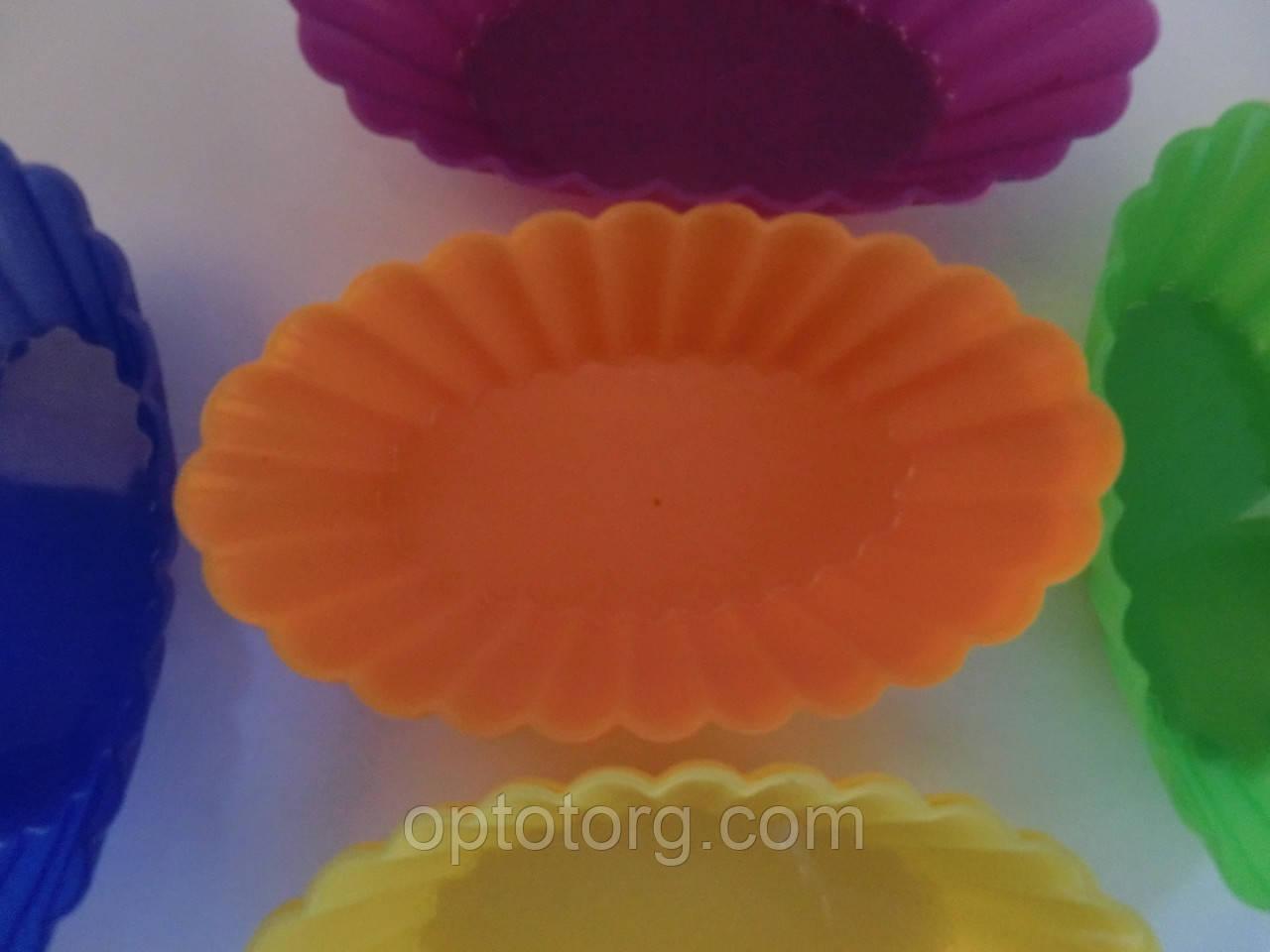 Формы для выпечки силиконовые микс 10*6*2,5 см