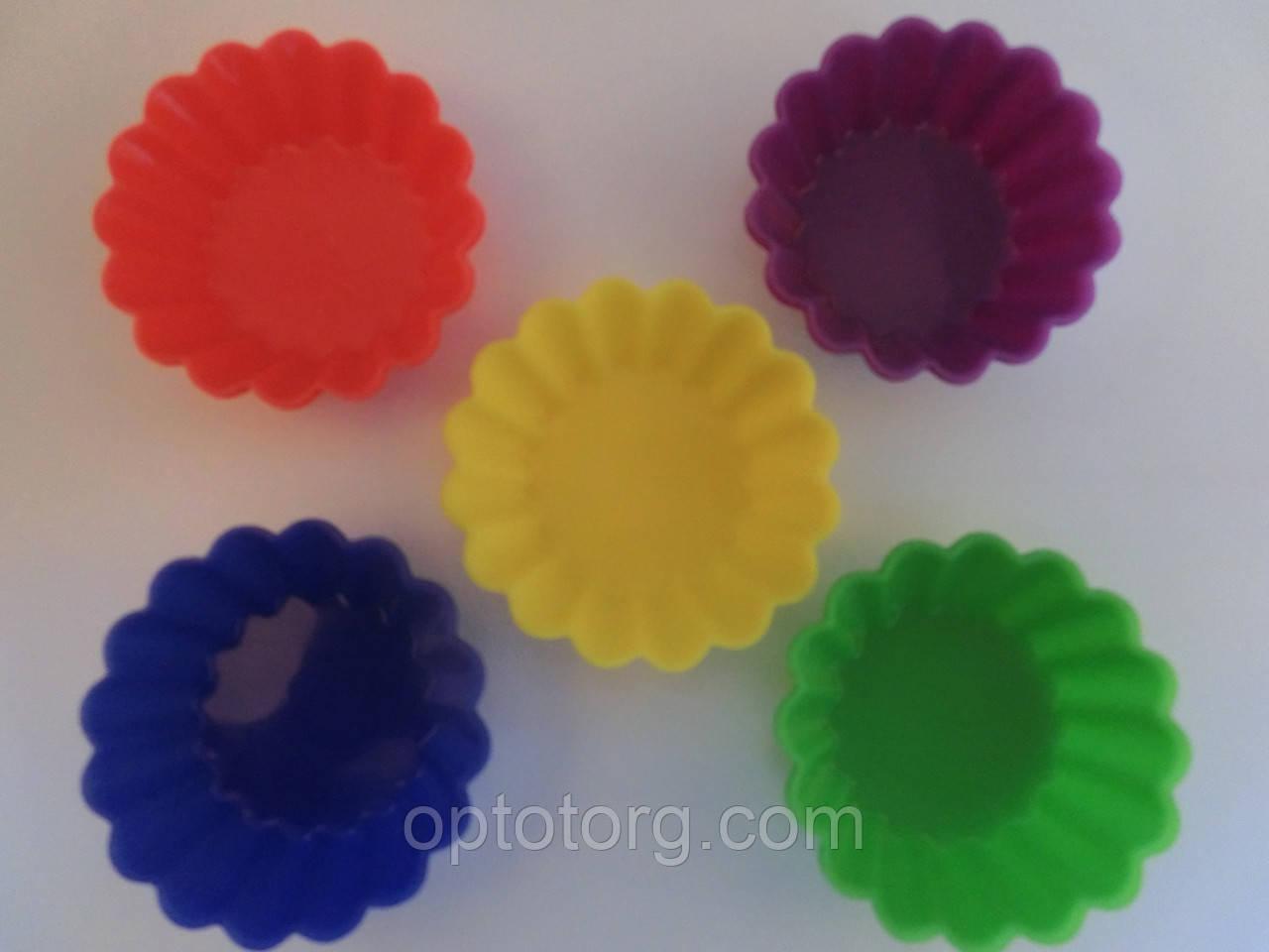Формы для выпечки силиконовые микс 7,5*2,5 см