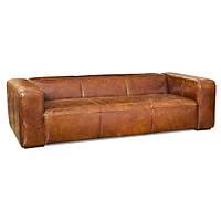Солидный кожаный диван Cube Leather. (230 см)